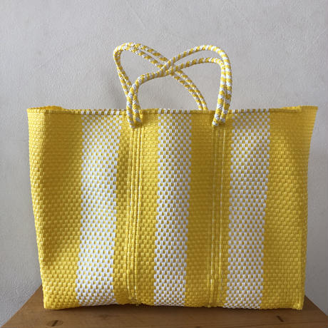 L size Mexican Plastic Tote bag メキシカントートバッグ ショートハンドル