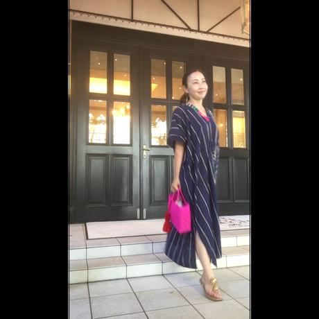 ムルムル綿インド カフタンドレスmulumulu cotton caftan dress