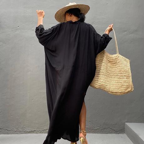 シャツ ワンピース /Black