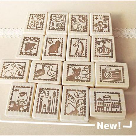【受注制作】3個選べる切手はんこセット