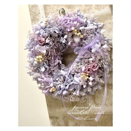 ラベンダーカラーのふんわり紫陽花リース キット‼