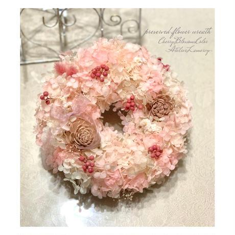 桜ピンクのふんわりリース キット‼