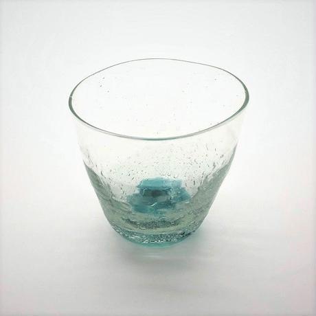 おおやぶみよ_星月夜グラス(底緑)