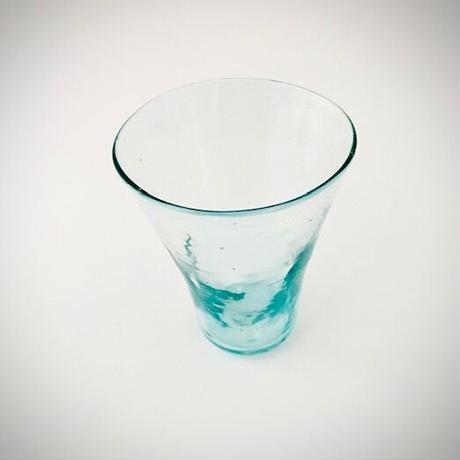 おおやぶみよ_スピカロンググラス  (アクアブルー)