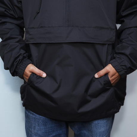 gold school nylon anorack jacket
