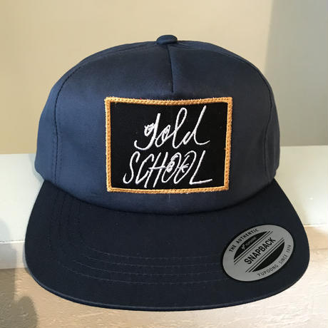 gold school logo twill cap
