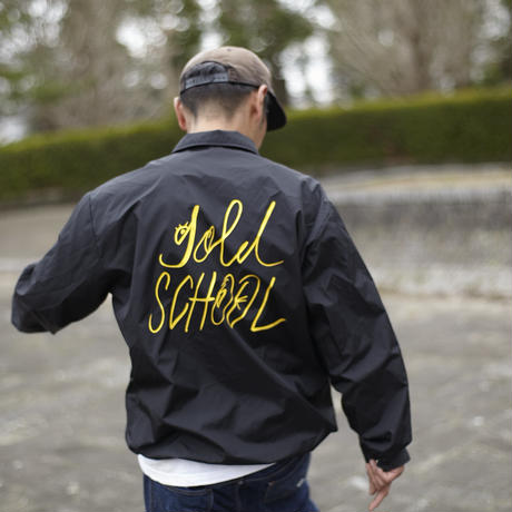gold school coast guard coach jacket
