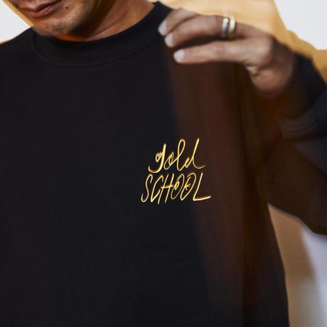 gold school orignal logo crewneck  sweat