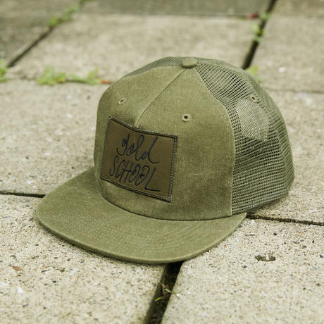 gold school logo mesh cap