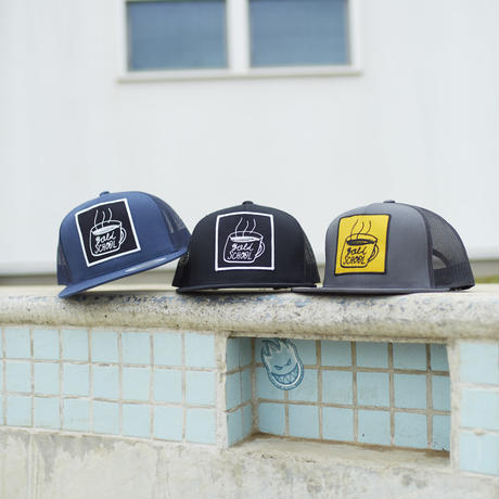 gold school coffe cup mesh cap