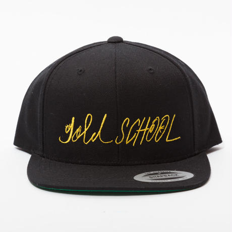 Gold  school logo cap