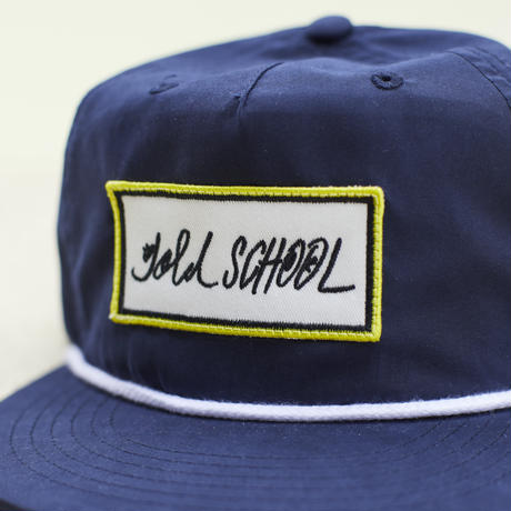 gold school bar patch cap