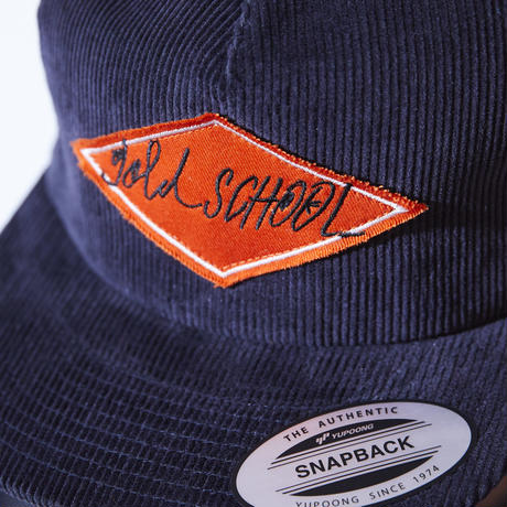 gold school corduroy cap