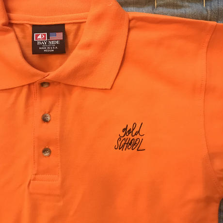 gold school  original polo shirt