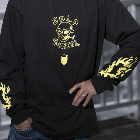 gold school long sleeve t shirt