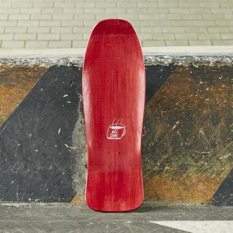 gold school skate board
