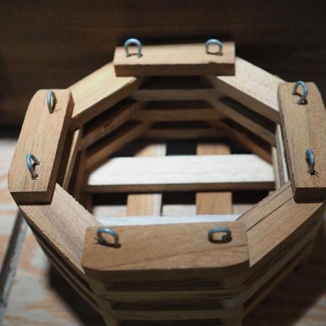 ■木製-木枠鉢(八角型) S-15×15㎝ ×2個セット