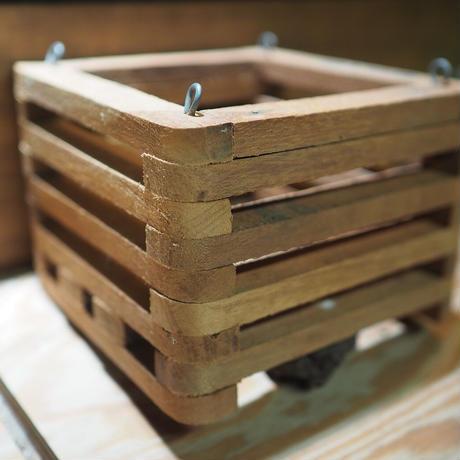 ■木製-木枠鉢(四角型) L-15×15㎝ ×1個