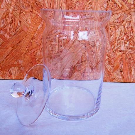 ■テラリウムガラス容器 蓋付キャニスター深型 Mサイズ