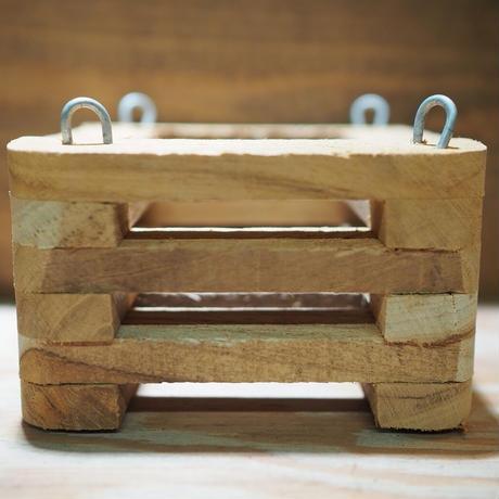 ■木製-木枠鉢(四角型) S-10×10㎝ ×2個セット