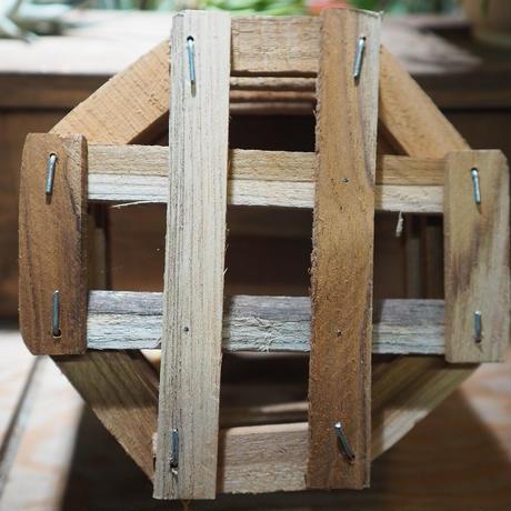 ■木製-木枠鉢(八角型) L-18×18㎝ ×2個セット