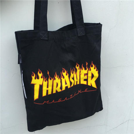 THRASHER 040001 ズックバッグ スラッシャー THRASHER トートバッグ 黒 2色
