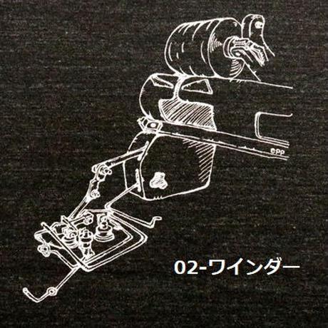 HOFI-007 ペンアートTシャツ(メンズ)チャコール