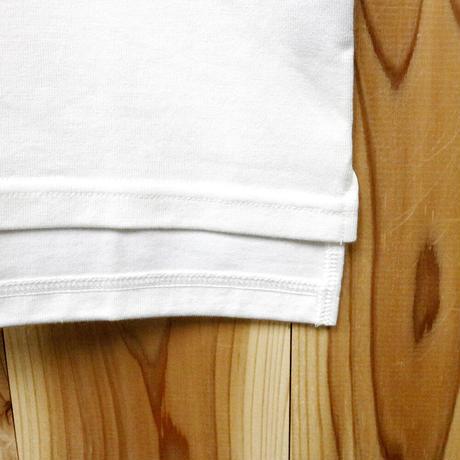 HOFI-010 インド超長綿 アイレット襟Tシャツ (レディース) ホワイト