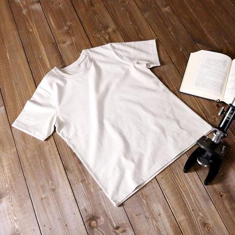 HOFI-009 ペルー超長綿 アイレット襟Tシャツ (レディース) ストーン