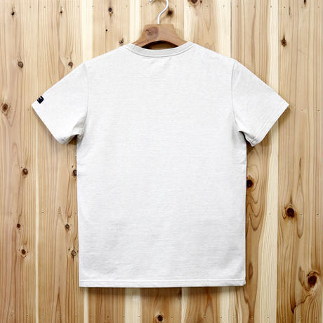 HOFI-007 ペルー超長綿天竺 丸首Tシャツ (メンズ) ベージュ