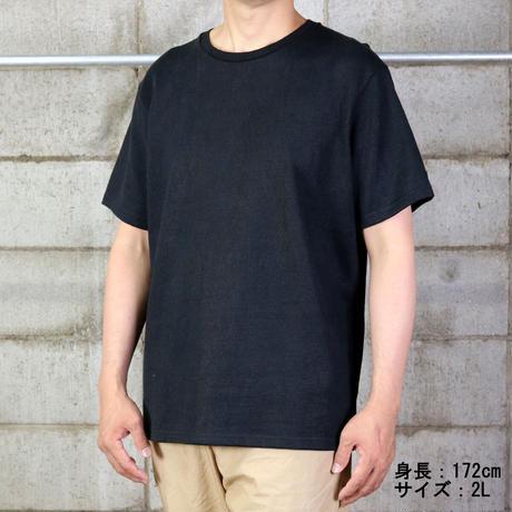 HOFI-012 リネンコットンモンスターオンスTシャツ (メンズ)ブラック