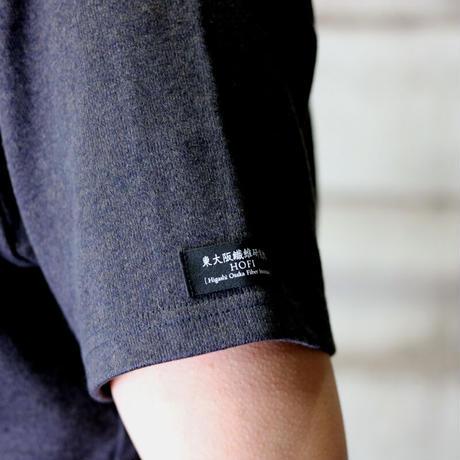 HOFI-012 リネンコットンモンスターオンスTシャツ (メンズ)チャコール