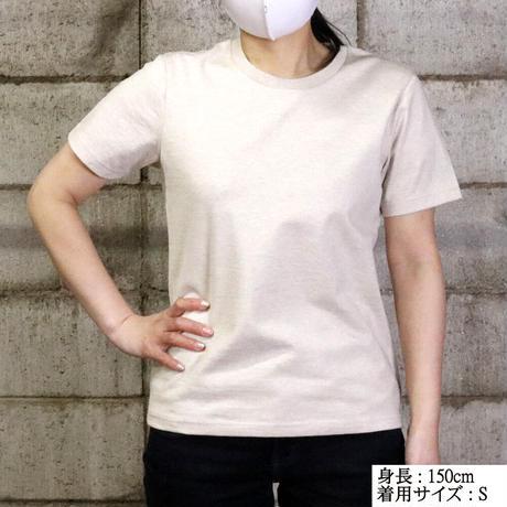 HOFI-009 ペルー超長綿 アイレット襟Tシャツ (レディース) ネイビー