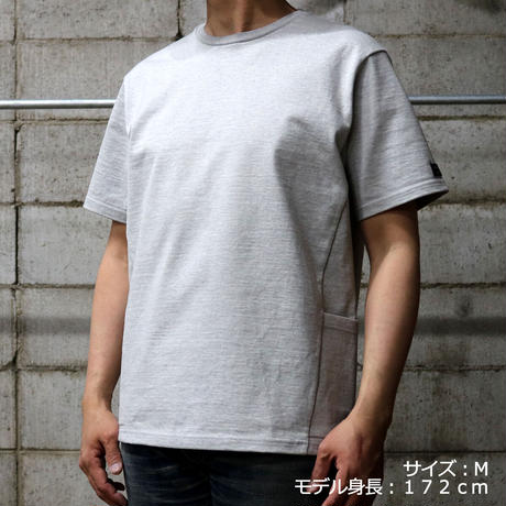 HOFI-013 ペルー超長綿 モンスターオンスTシャツ  グレー