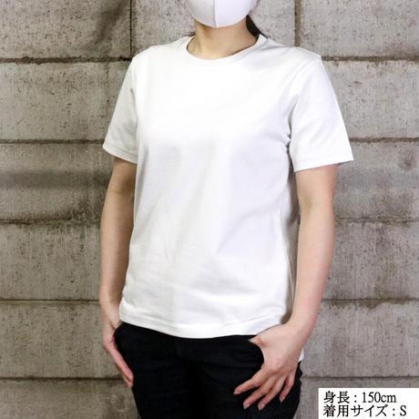 HOFI-010 インド超長綿 アイレット襟Tシャツ (レディース)ネイビー