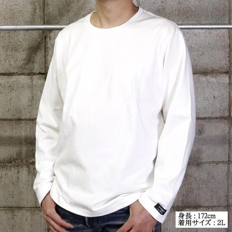 HOFI-011 インド超長綿 タック襟長袖Tシャツ (メンズ) アッシュ