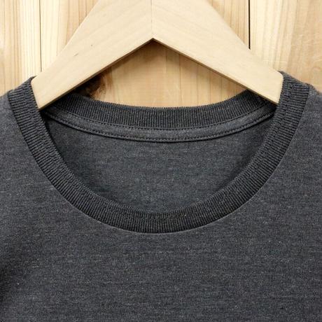HOFI-009 ペルー超長綿 アイレット襟Tシャツ (レディース) スティール
