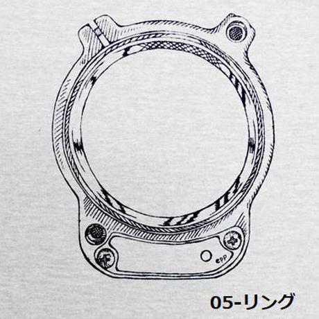 HOFI-007 ペンアートTシャツ(メンズ)グレー