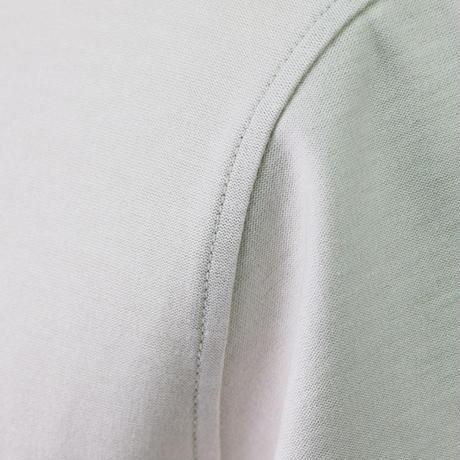 HOFI-002 インド超長綿天竺 丸首Tシャツ(メンズ)シルバーグレー