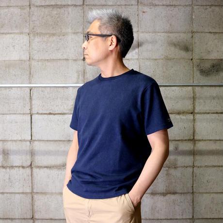 HOFI-012 リネンコットンモンスターオンスTシャツ (メンズ)ネイビー