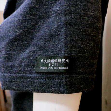 HOFI-007 ペルー超長綿天竺 丸首Tシャツ (メンズ) ネイビー