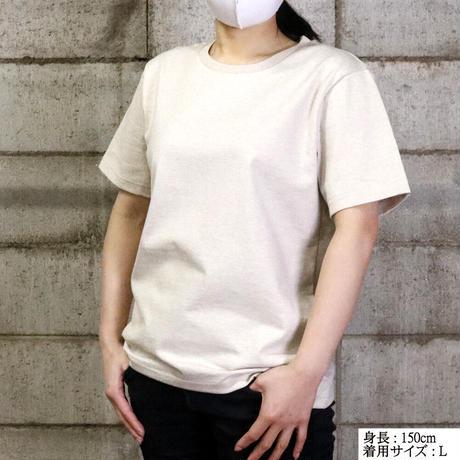 HOFI-009 ペルー超長綿 アイレット襟Tシャツ (レディース) チャコール