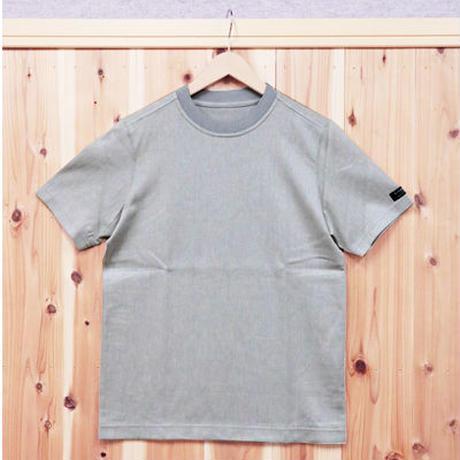 HOFI-001 コットンリネンインレー丸首Tシャツ (メンズ) グレー
