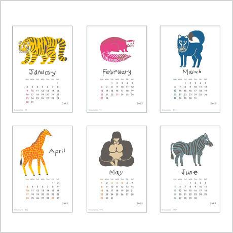 2022年ミロコマチコ卓上カレンダー(木製スタンド付き)