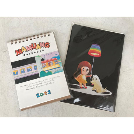 マムアンちゃん新しいことはじめるぞセット➁/2022カレンダー+ピアノノート