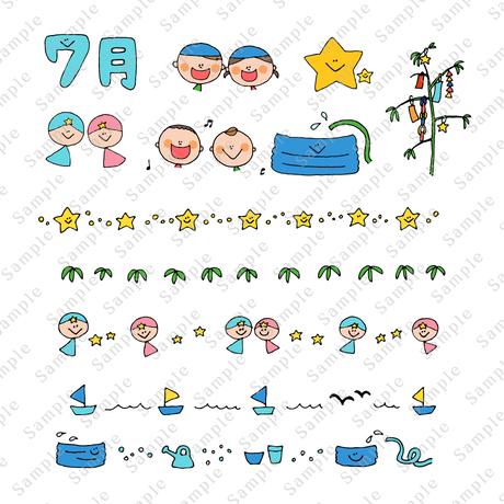 HoiClueイラストカット集【季節の装飾編〜夏〜】
