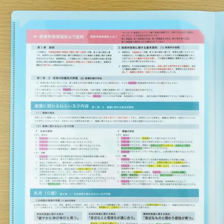 【保育所保育指針PDCA活用ファイル】2枚セット