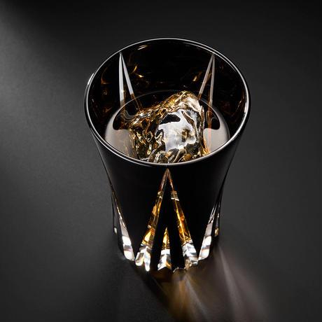 清水硝子 × STARFLYER  黒切子タンブラー