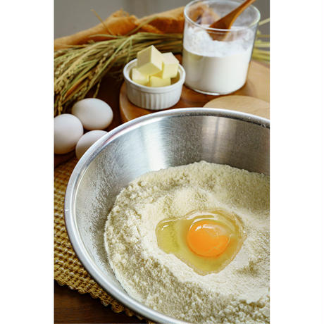 【おウチで作ろう!】農猿 通販「出産祝いにも!赤ちゃんに優しい米粉セット(離乳食専用米粉&ゆめぴりか米粉ドーナツ(4味 8個入)」《送料無料》