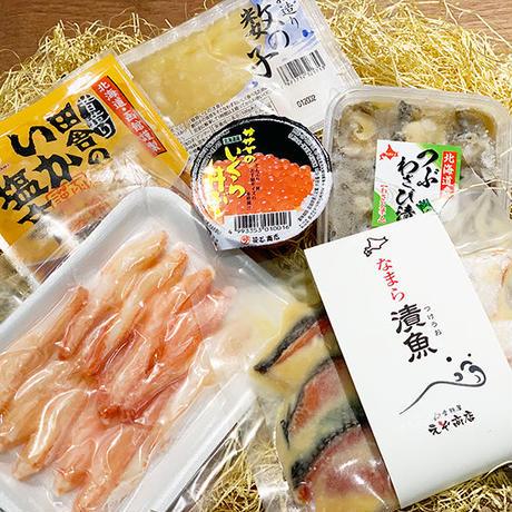 【限定!】食材屋 えぞ商店 通販「北海道海鮮おつまみ『贅沢セット』鮭いくら・数の子・ズワイガニなど6点盛り」《送料無料》